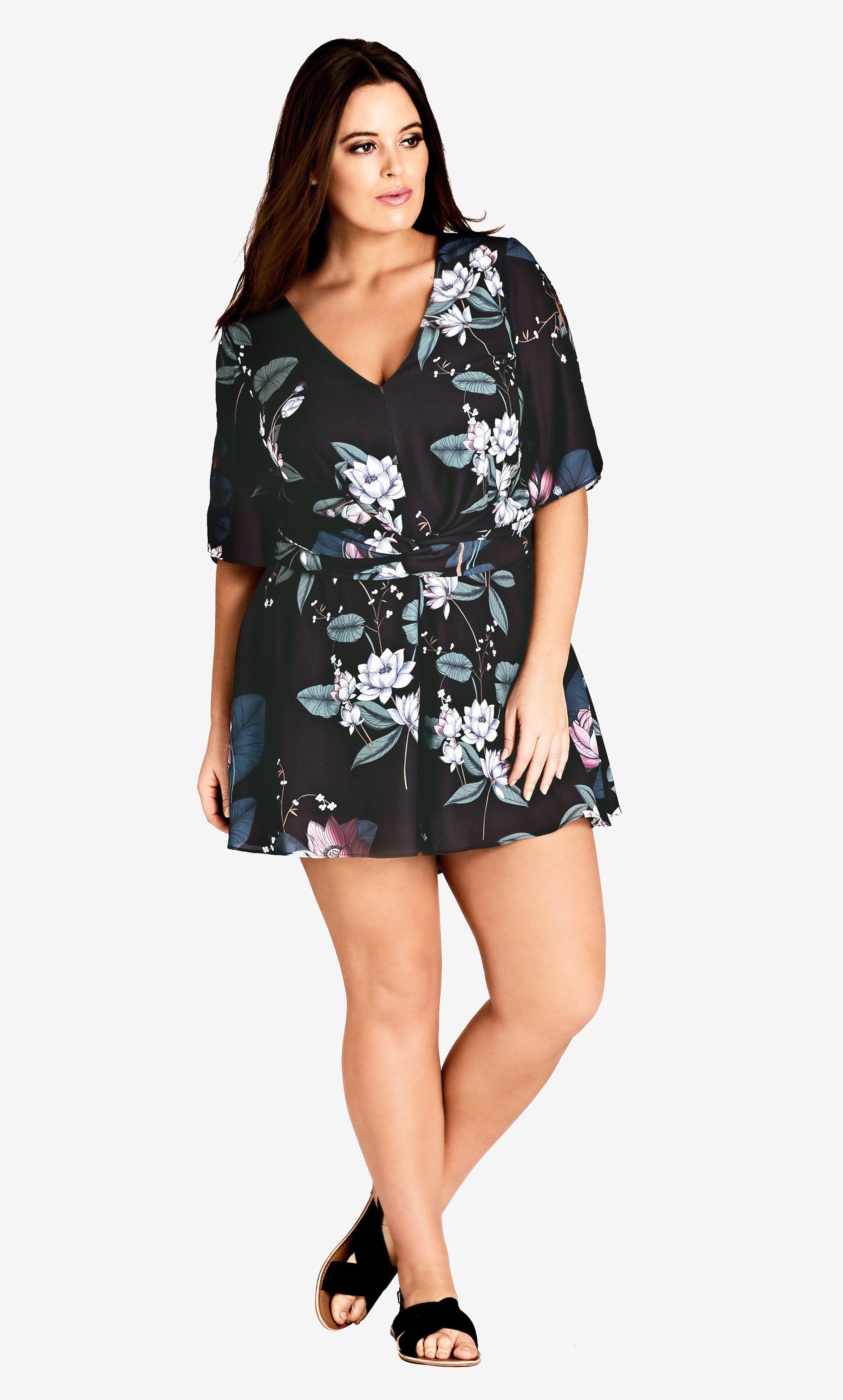 Blossom playsuit playsuit dress plus size retro dresses