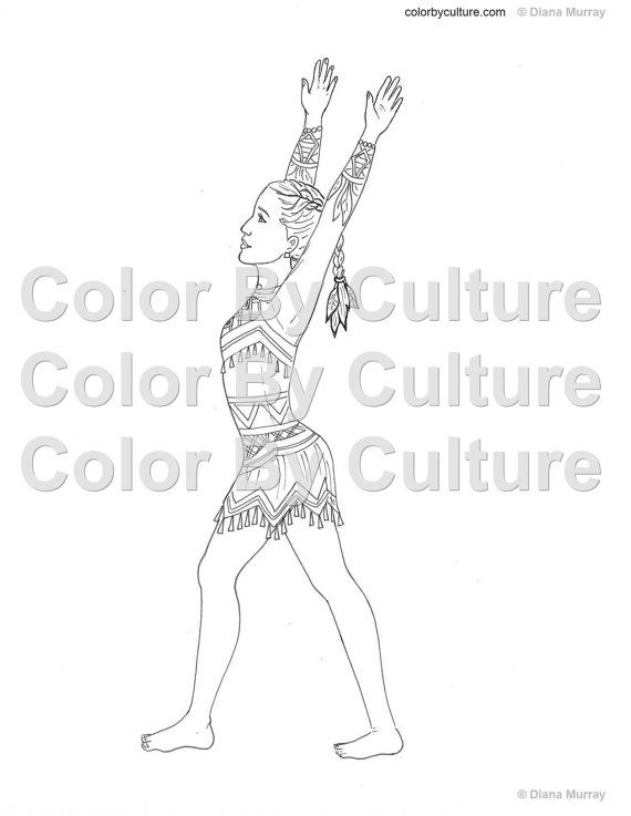 Gymnastics Coloring Book Fashion Coloring Book by