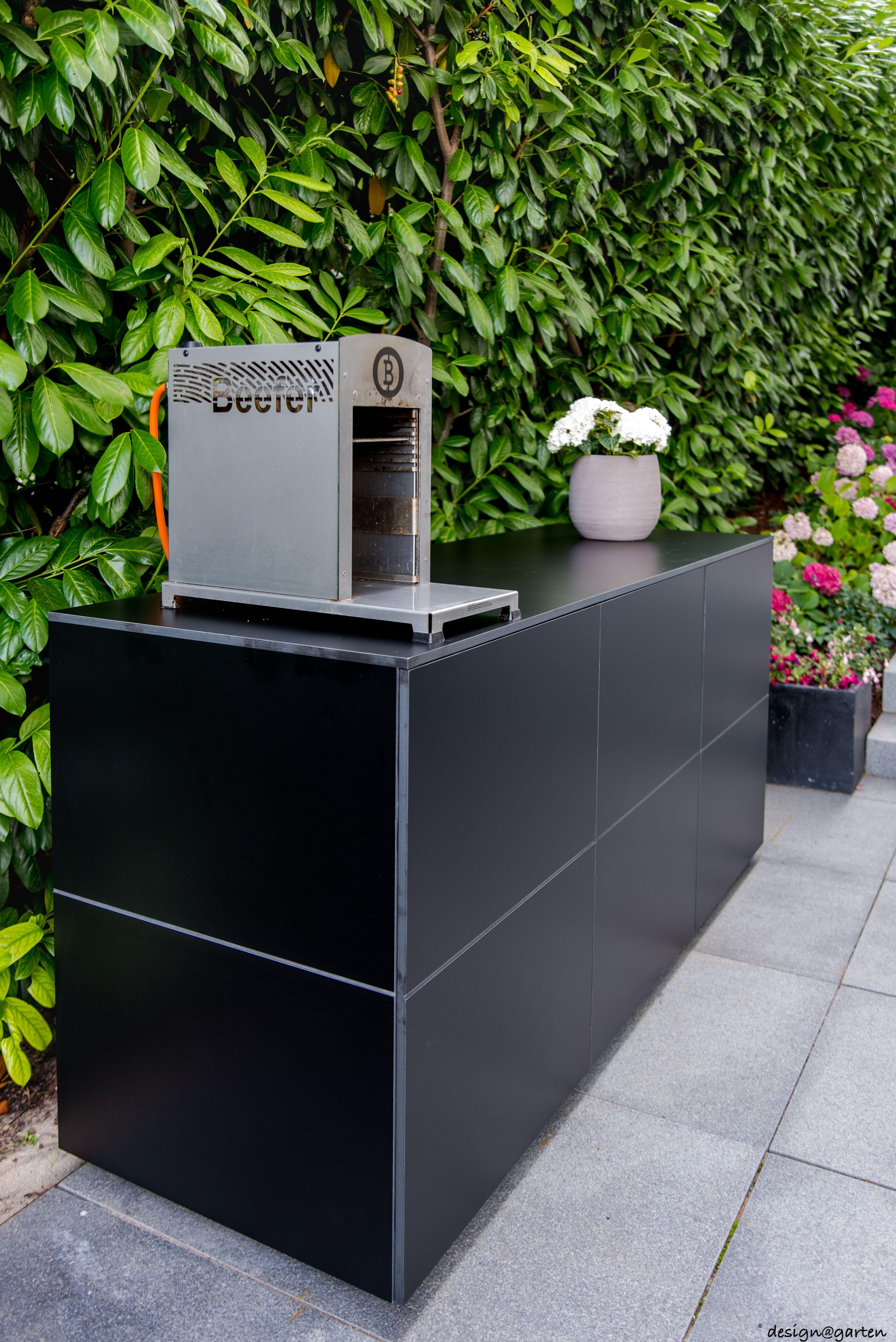 Balkonschrank Terrassenschrank Beeferschrank Win By Design Garten Augsburg Farbe Black Wetterfest Uv Bestand Gartenschrank Sideboard Balkonschrank