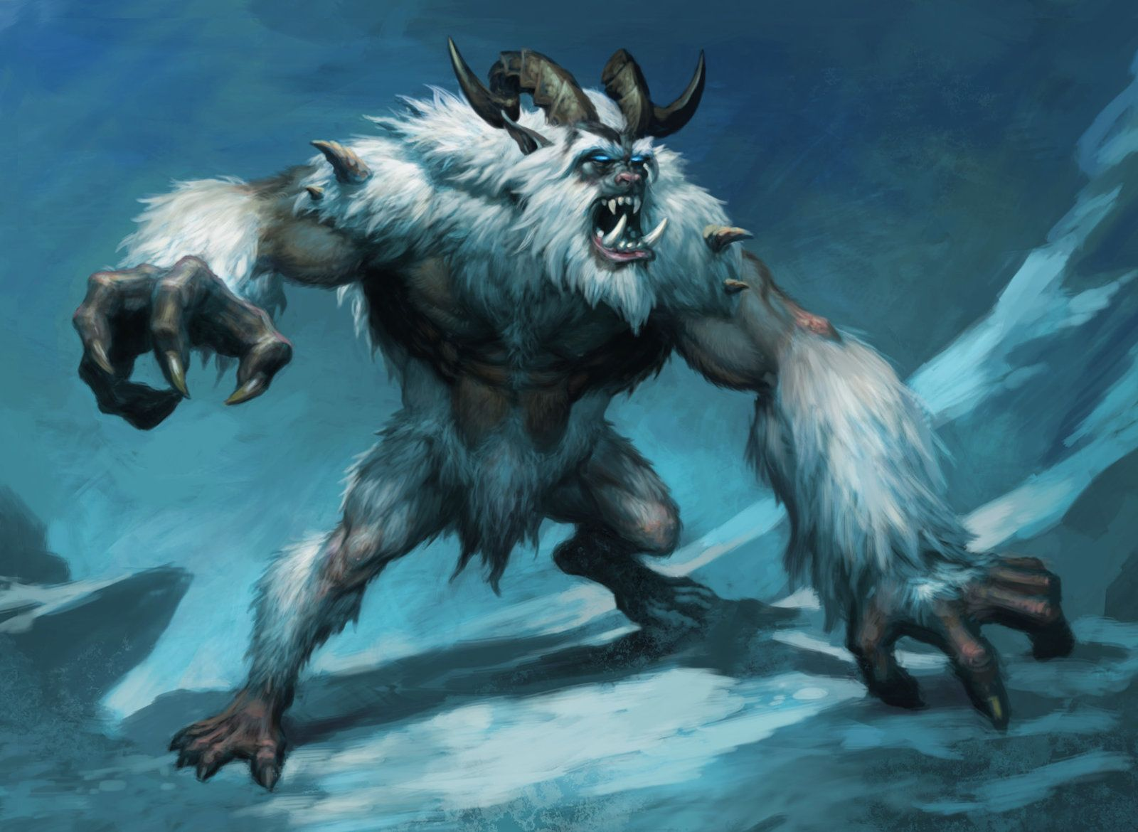 Yeti by Chris Dien on ArtStation Fantasy monster, Beast