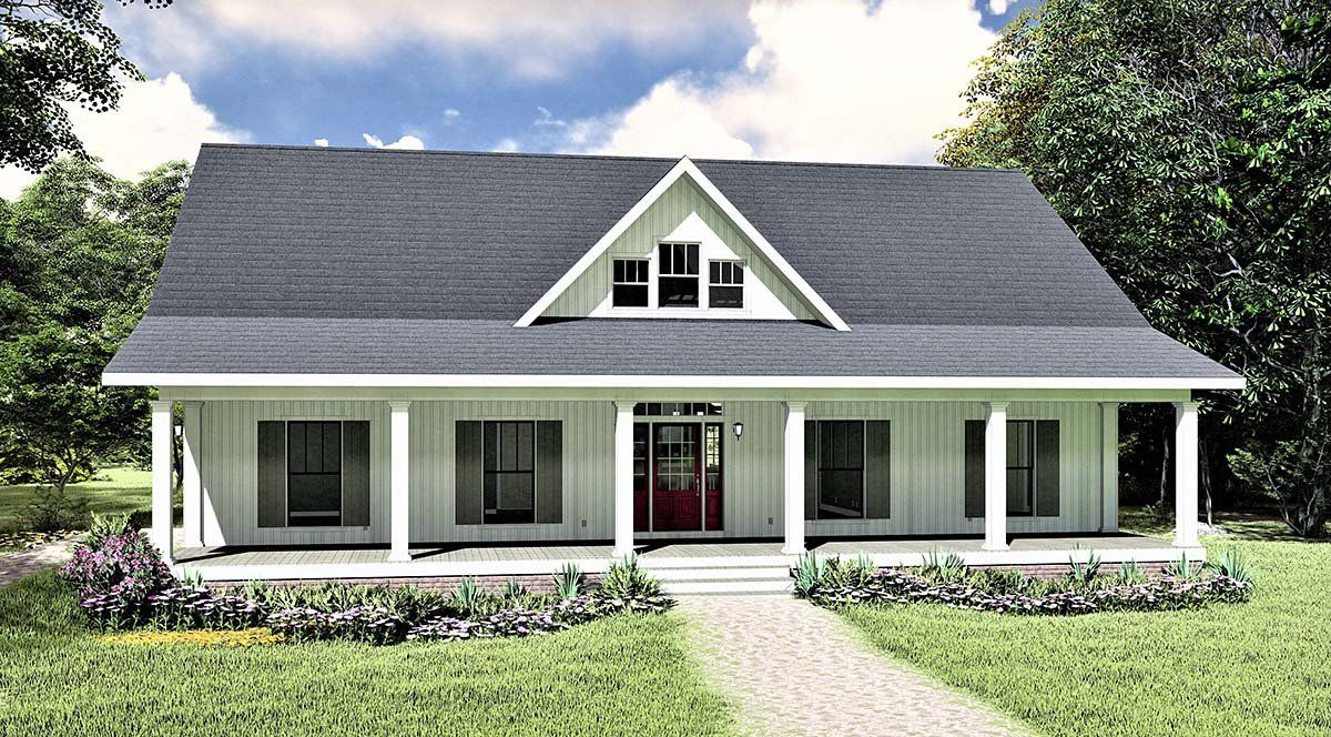 Southern Style House Plan 77407 With 3 Bed 2 Bath 2 Car Garage In 2021 Country House Plans House Plans Farmhouse Cottage House Plans