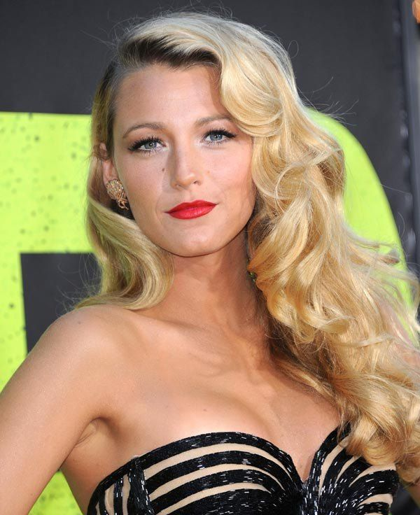 Bold Red Lip And Old Hollywood Glam Hair- LOVE
