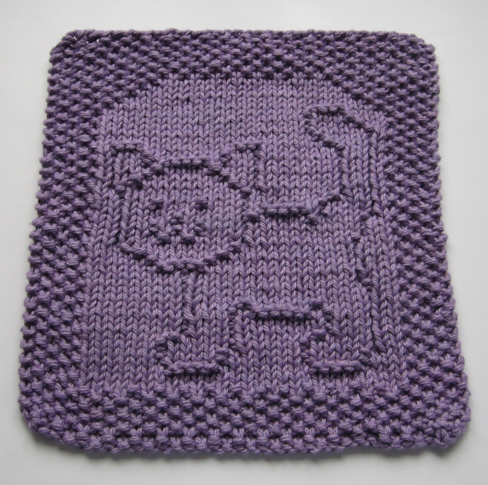 Purrfect Dishcloth, by Down Cloverlaine on BlogSpot. Free ...
