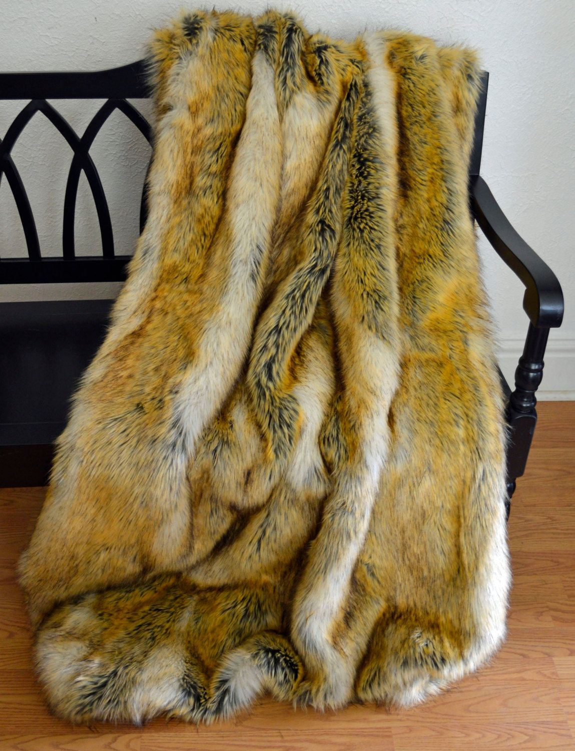 Faux Fur Throw Blanket Coyote Faux Fur Fur Bedding Blanket Throw (179.00 USD) by CindyHeitkampDesigns