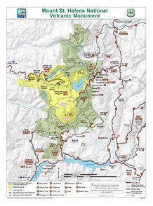 Mount St Helens Vicinity Map | Washington | link to US ...