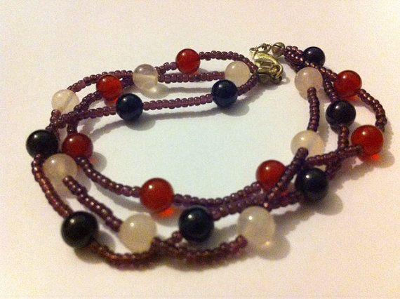 Jolly Gemstone Jumble Bracelet  Semi Precious by DollyDecades
