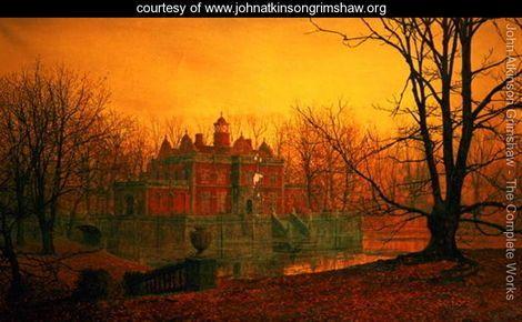 The Haunted House - John Atkinson Grimshaw - www.johnatkinsongrimshaw.org