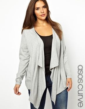 ASOS CURVE Exclusive Waterfall Cardigan  c94facc60