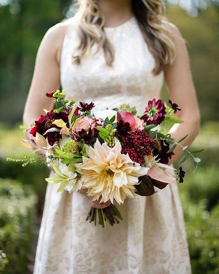 Autumn Bouquet With Rosa Amnesia And Chocolate Cosmos Babie Lato Bridesmaid Dresses Wedding Dresses Rose Floral Arrangements