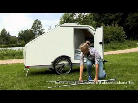Fahrradwohnwagen Fahrradanhanger Trailer Wohnwagen Youtube