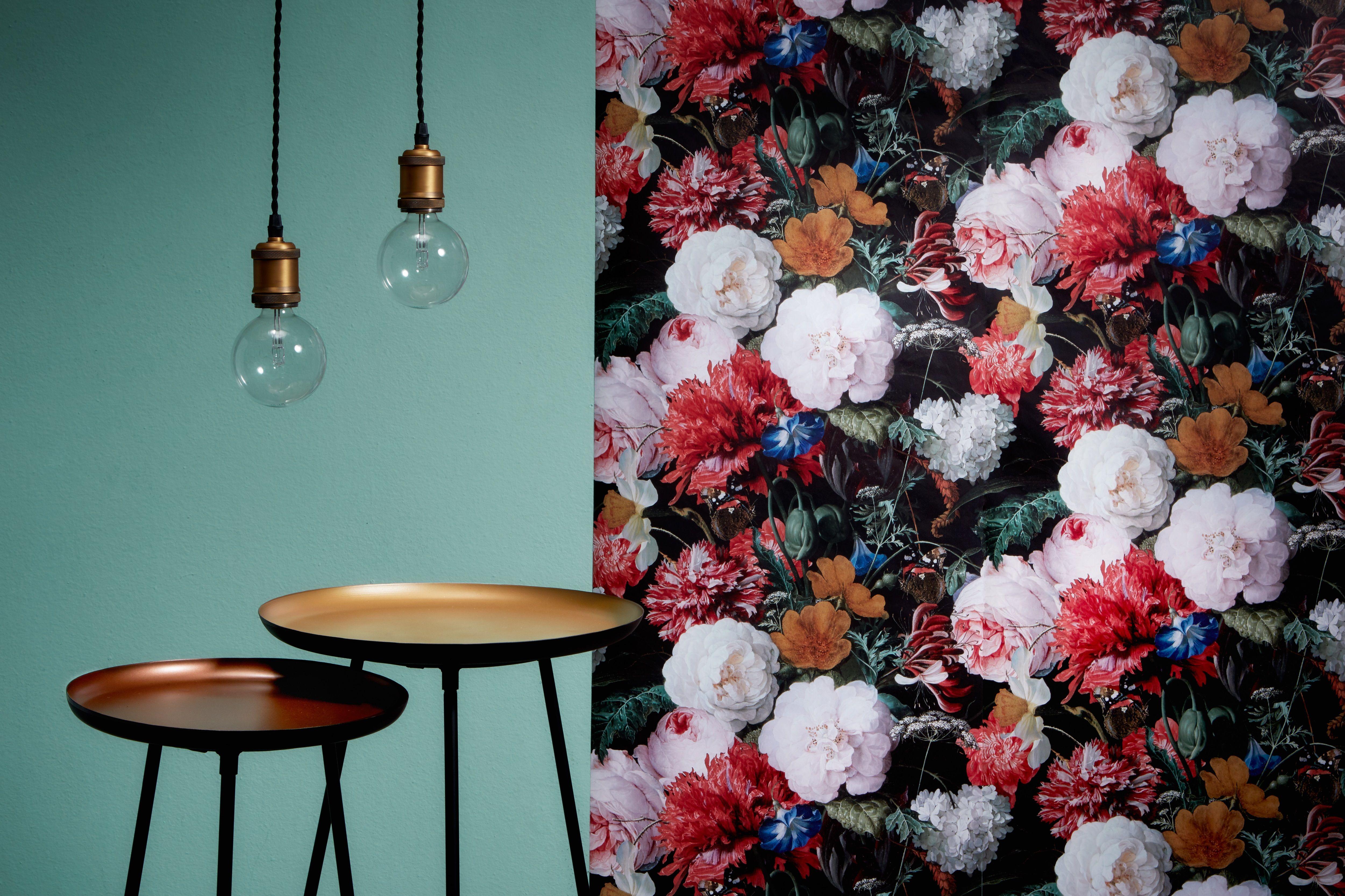 Wow Durf jij het aan de vrolijke bloemenprint van behang