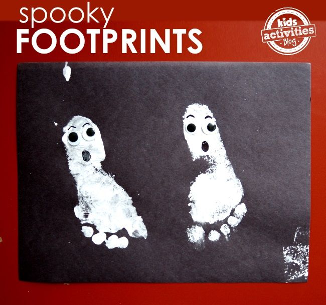 Halloween Crafts} Make A Ghost with Footprints Crafts, Crafts for - halloween decorations for kids to make