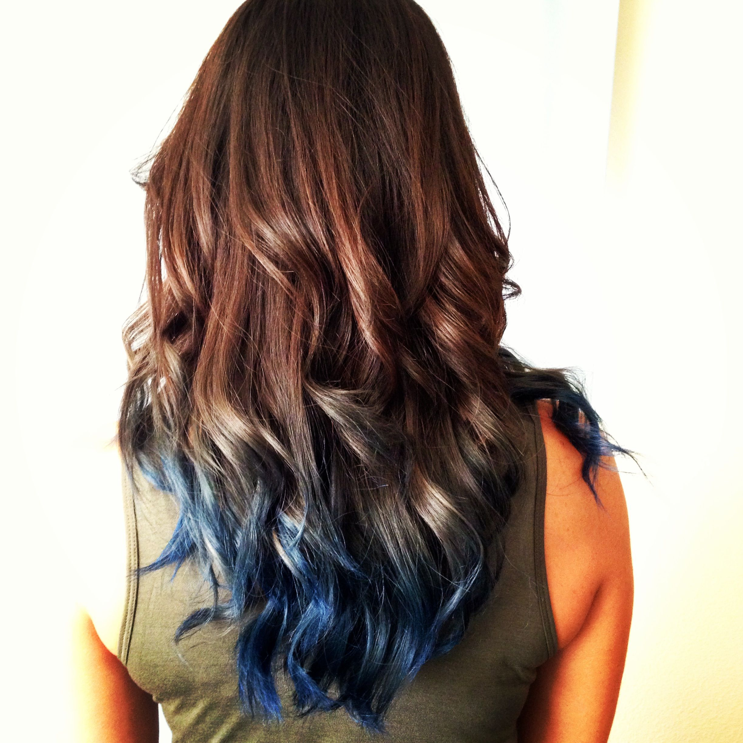 Blue Ombre Hair The Perfect Amount Of Blue Color Beauty Tips