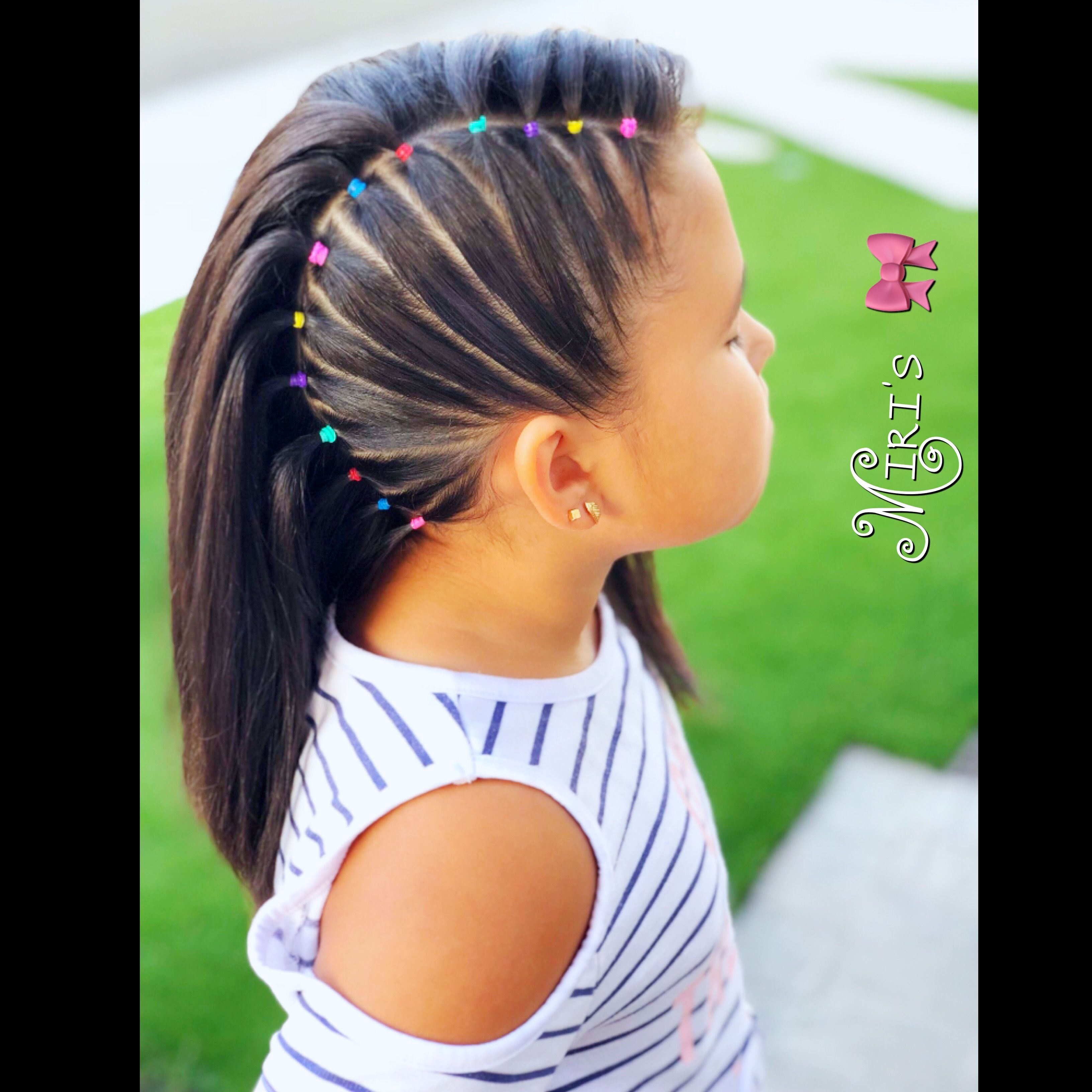 Hair style for little girls   Baby girl hairstyles, Baby girl hair ...