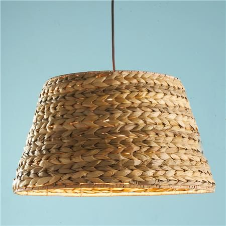 Braided Seagrass Shade Pendant Light   Would Compliment The Bar Stools.  Just A Thought.
