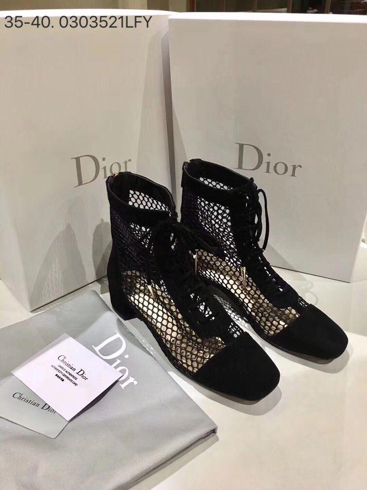 a68a9457a3 Christian Dior woman shoes short ankle mesh boots black | Woman ...