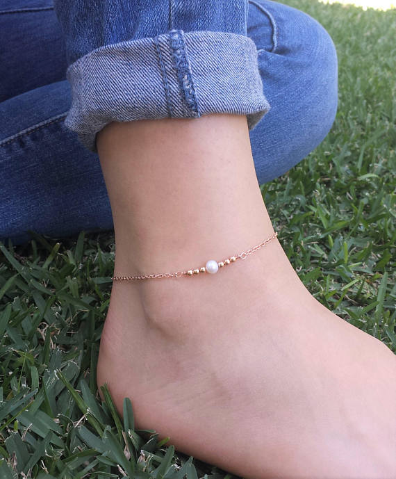 ankle chain plated jewelry gold anklet cute barefoot bracelet item beach dainty simple on