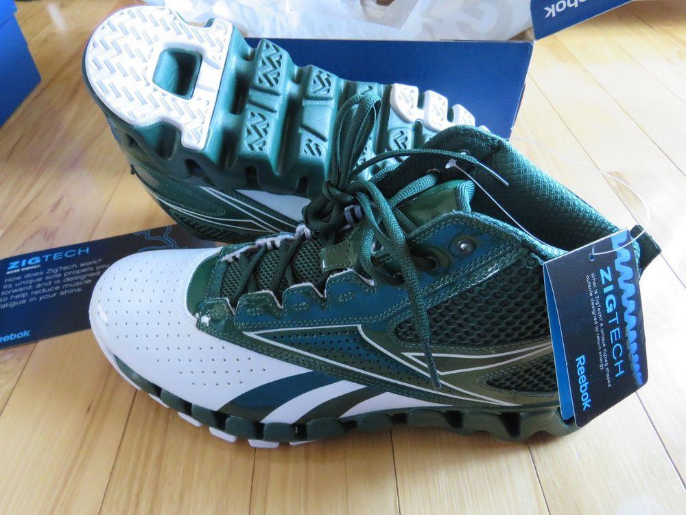 81cf104f7a4f8 REEBOK ZIG PRO FUTURE Green Basketball Shoes NEW Old Stock J87042 Men s  Size 13  Reebok  BasketballShoes