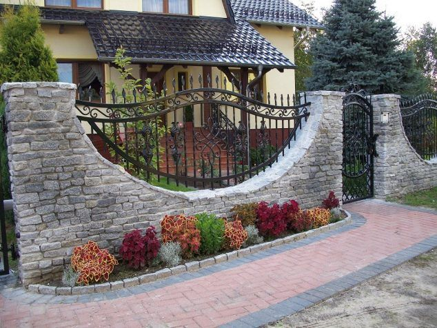 15 Amazing House Fence Design To Leave You Speechless Fence Design House Fence Design Brick Fence