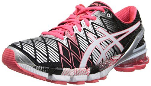 ASICS Women's Gel-Kinsei 5 Running Shoe,Black/Snow/Diva Pink,