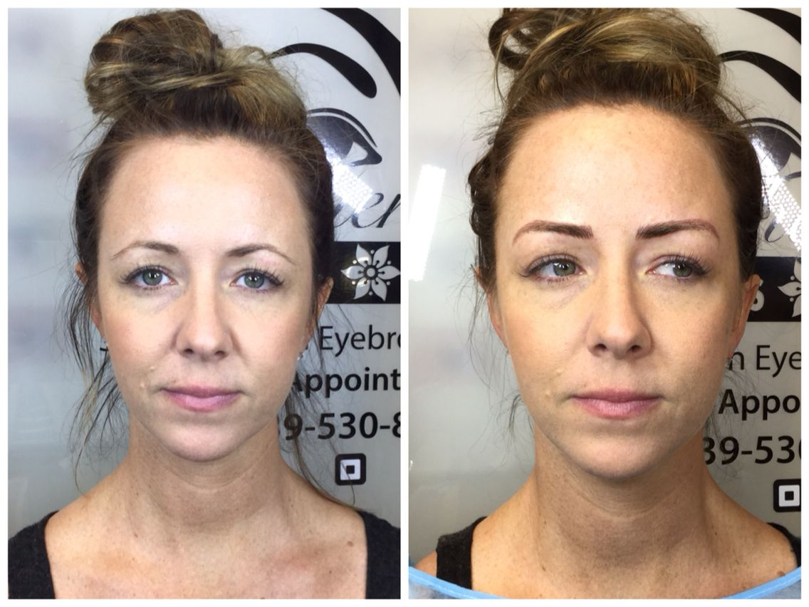 Before and after.. Microblading for eyebrows | Beautiful ...