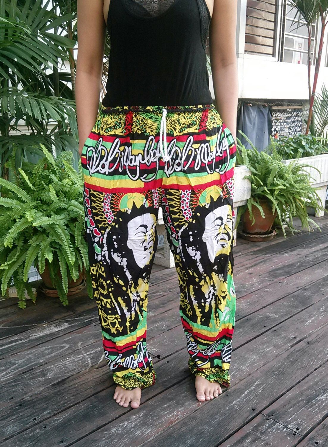 Unisex Reggae Rasta Clothing Rastafari Fashion Print Boho