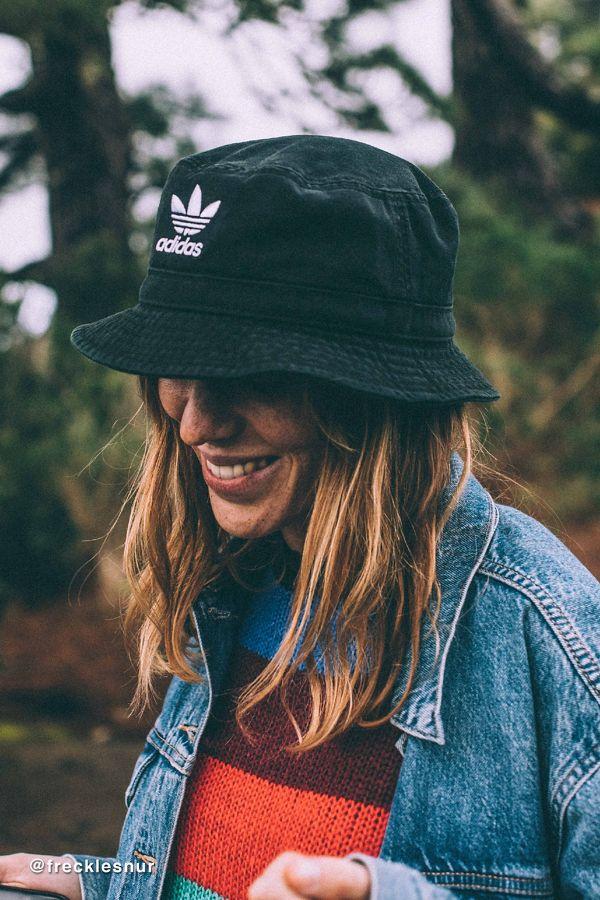 adidas Originals Denim Bucket Hat | Bucket hat fashion, Hat ...