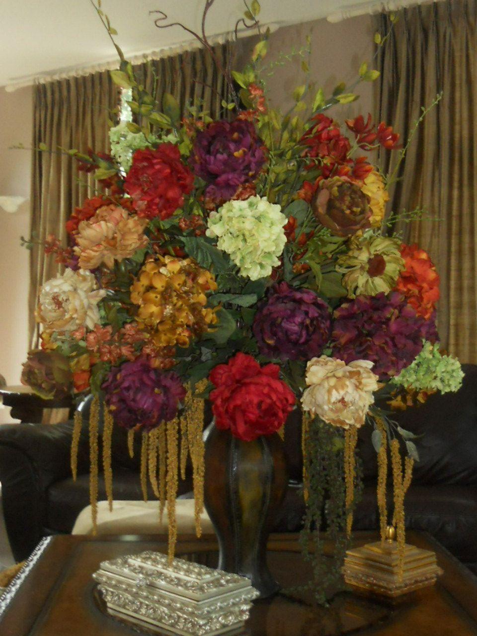 Stunning Hotel Style Designer Silk Floral Arrangement For The Home
