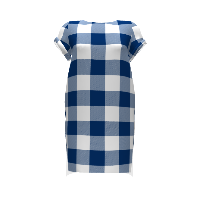 Inari Tee Dress | indigo and white parka check | Parka, Indigo and ...