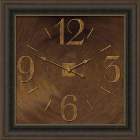 allen roth 24in Square Clock Oil Rubbed Bronze Clock For the