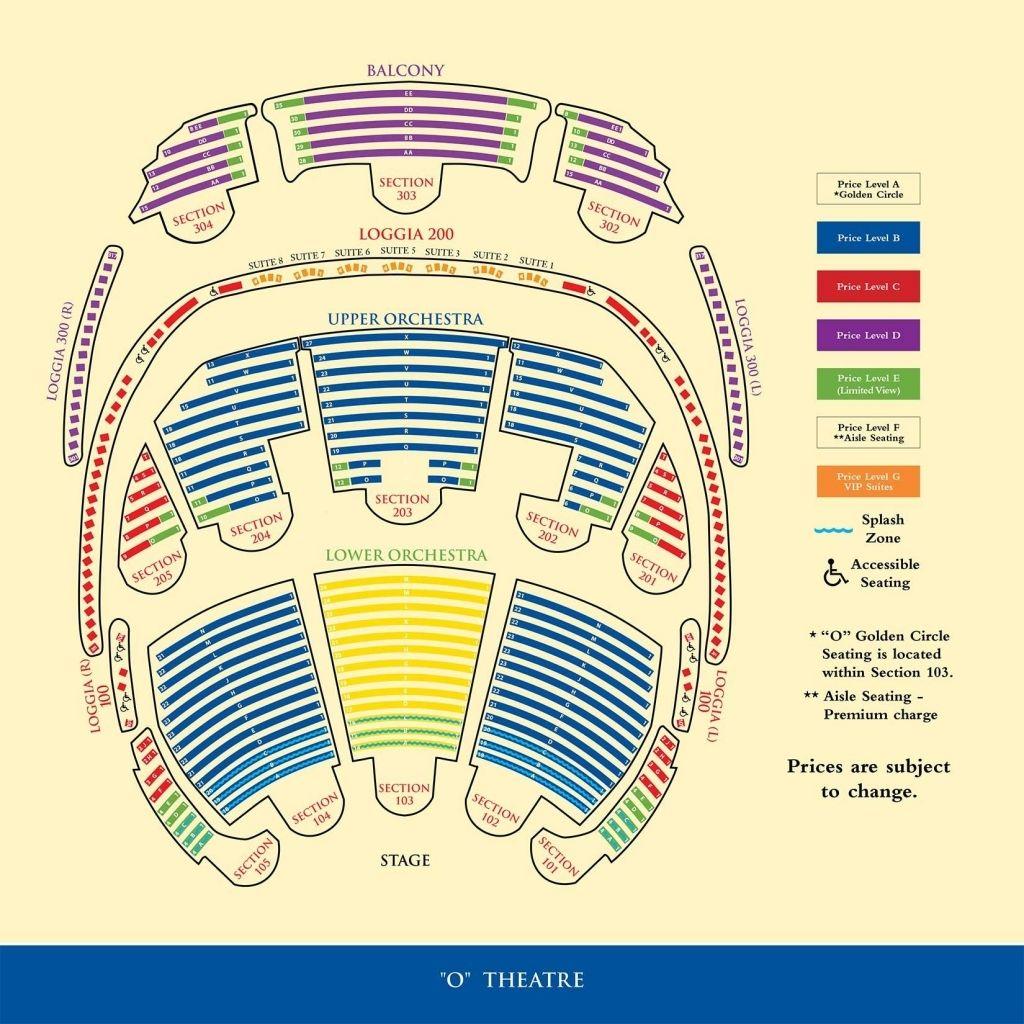 Bellagio O Seating Chart In 2020 Cirque Du Soleil O Seating Charts Cirque Du Soleil