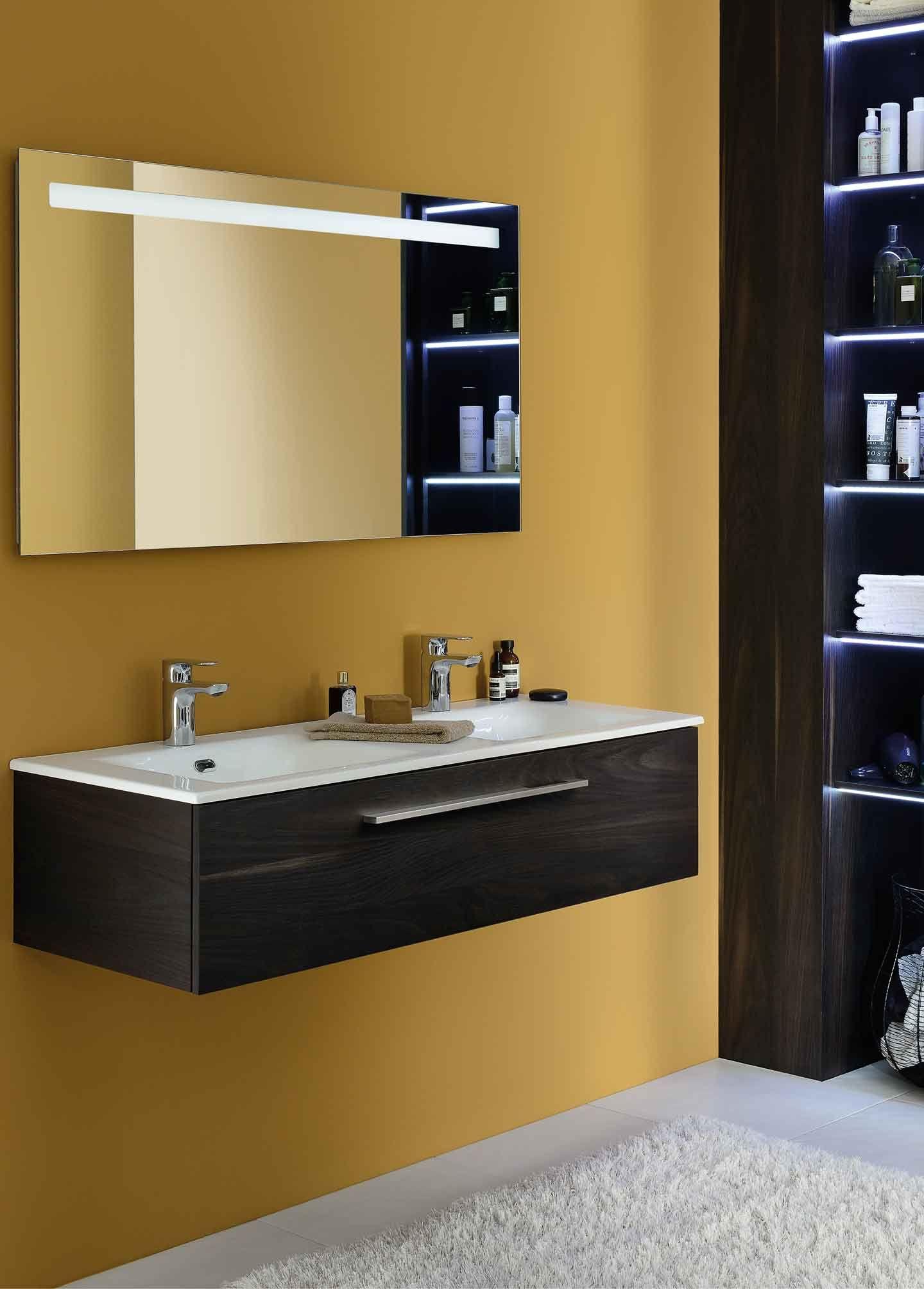 Meuble halo miroir salle de bain salles de bains Eclairage salle de bain ikea