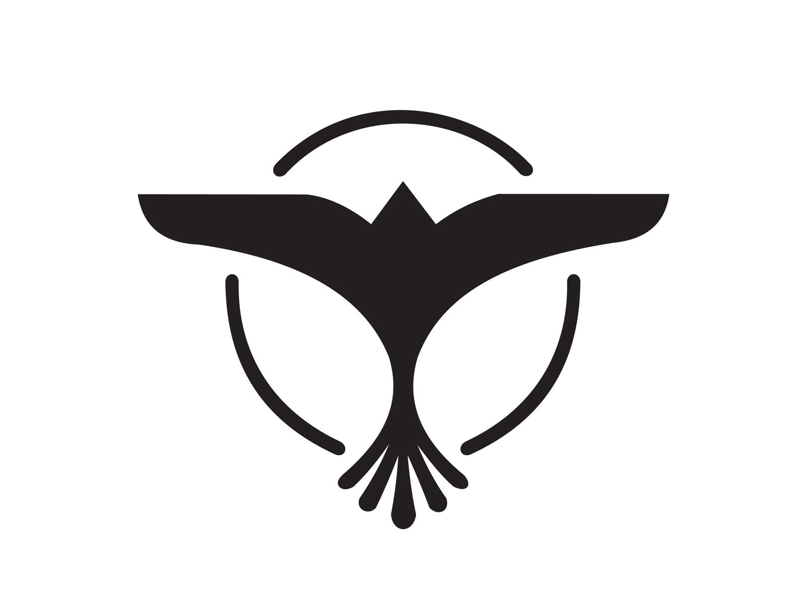 The famous bird logo. Any Tiësto fan will be able to