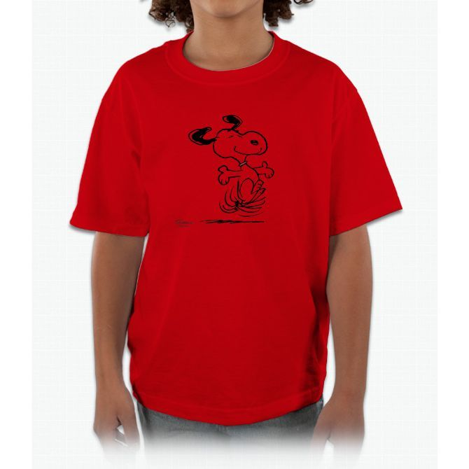 Snoopy- Dancing Dog Tee Charlie Brown Kids and Youth T-Shirt