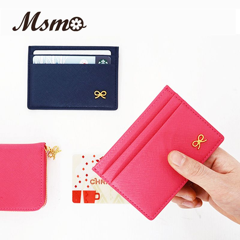 MSMO Simple ID Holder Sets Card Package Wallet Door Clip Card Holder - Porte carte credit