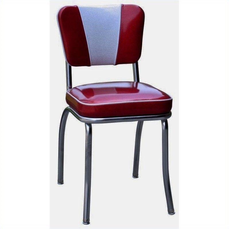 Richardson Seating Retro 1950s V-Back Diner Dining Chair in Glitter ...