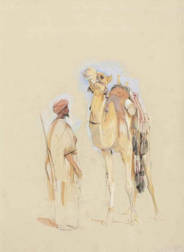 Image Peinture Orientaliste De Mai Du Tableau Draw Chameau Dessin