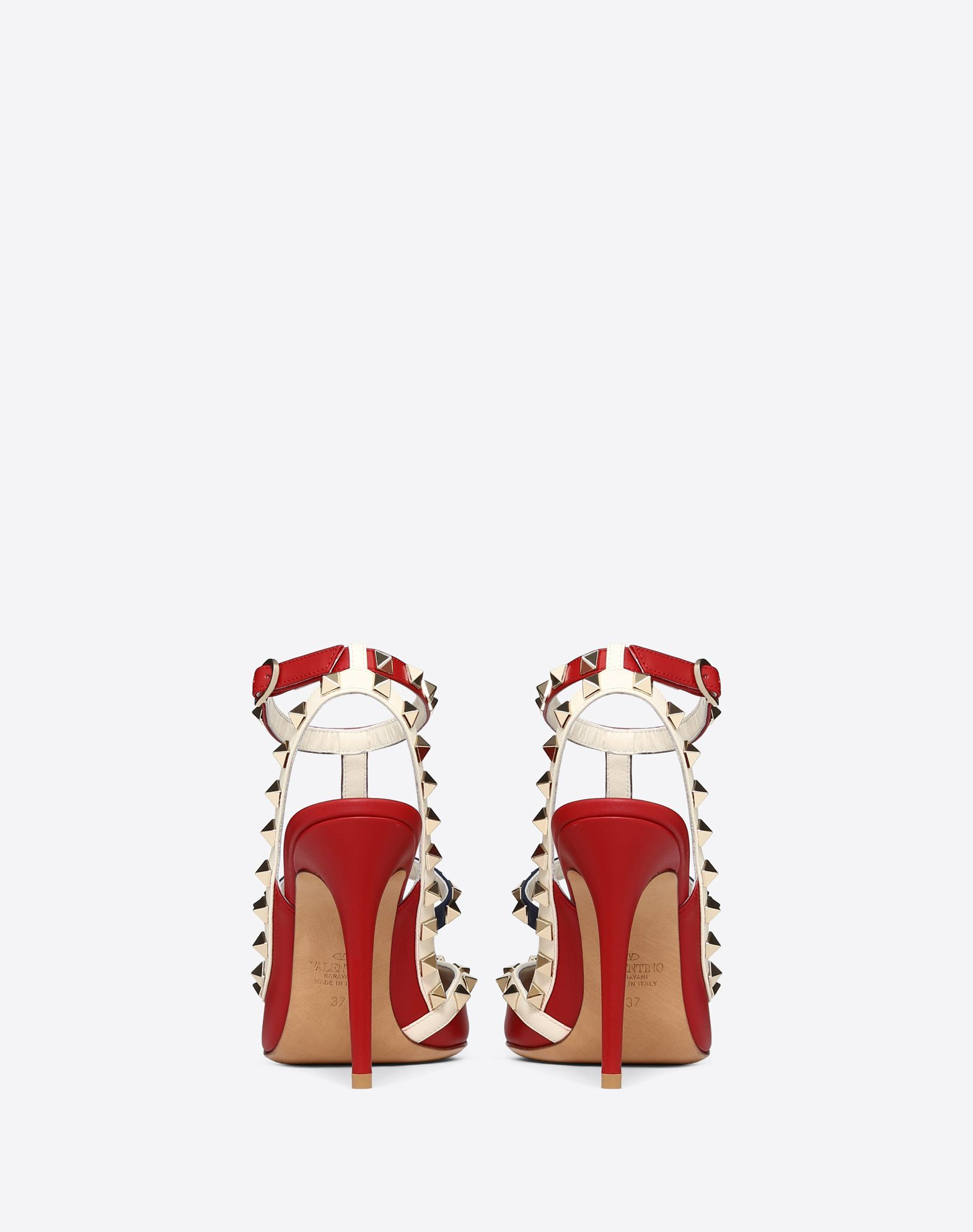 80dd371eed1 Multicolor Rockstud Caged Pump 100mm for Woman