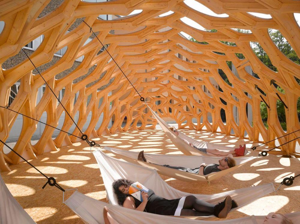 Marvelous BOWOOSS Sommerpavillon an der Schule f r Architektur Saar