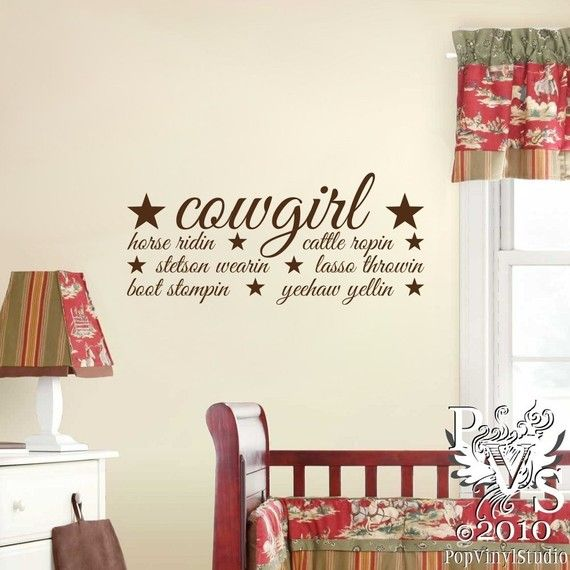 Cowgirl Definition Ridin' Ropin' Wall Design; You Choose