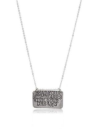 Alisa Michelle Beat Your Nightmares With Your Dreams Necklace