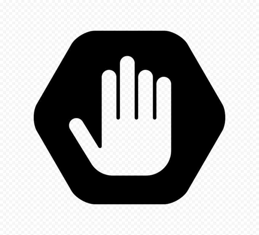 Hd Outline Hand Stop Silhouette On Black Road Stop Sign Png Stop Sign Signs Outline