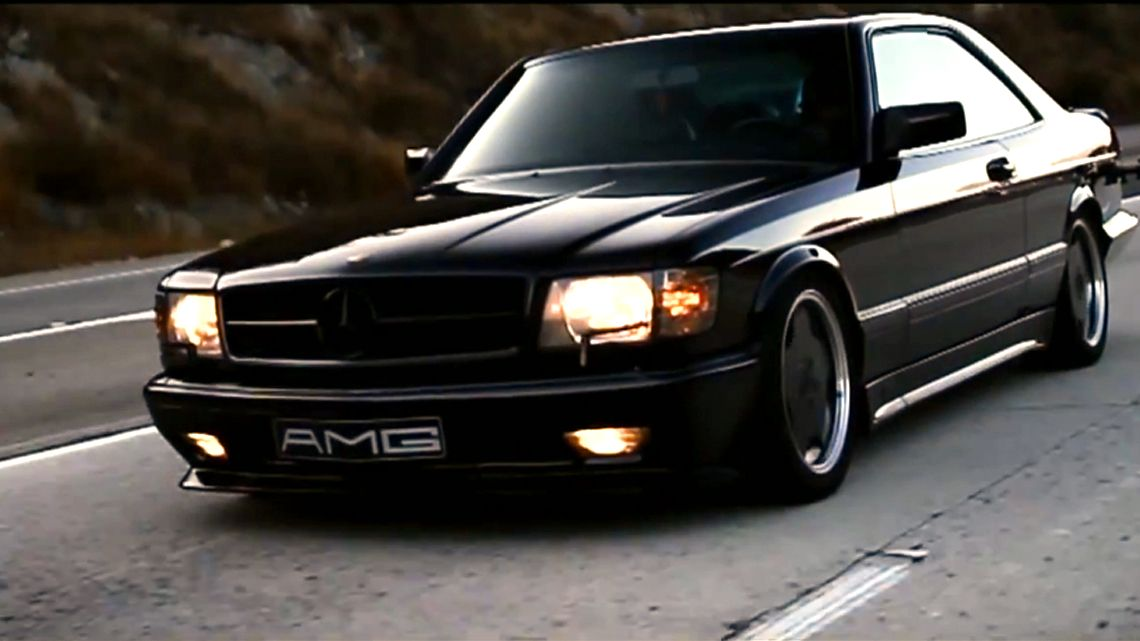 This sinister 1988 560 SEC AMG is a thing of beauty