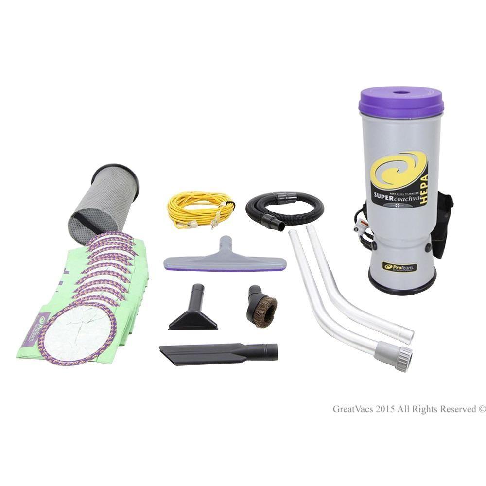 Proteam Super Coachvac 10 Qt Commercial Backpack Vacuum