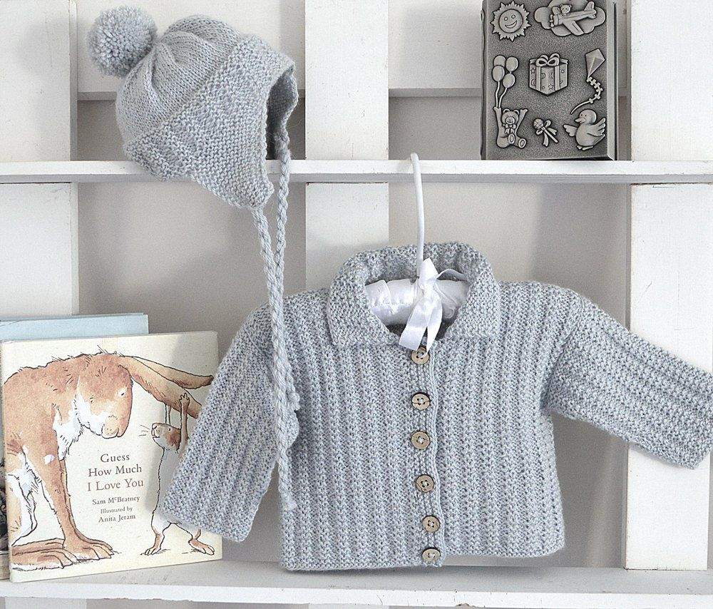 08fb075c08cd0 Baby Pilot Jacket   Matching Hat - P131 Knitting pattern by OGE Knitwear  Designs