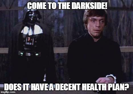 The Power Of Darthcare Star Wars Memes Star Wars Quotes You