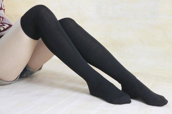 Women/'s Over Knee High Socks Knit Boot Stockings Leg Warmer