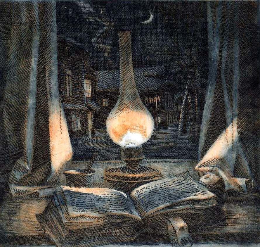 Картинки лампа в живописи