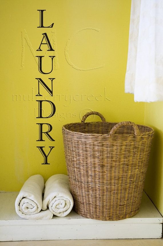 Laundry Room Decor, Laundry Room Wall Decals, Vertical Laundry Room ...