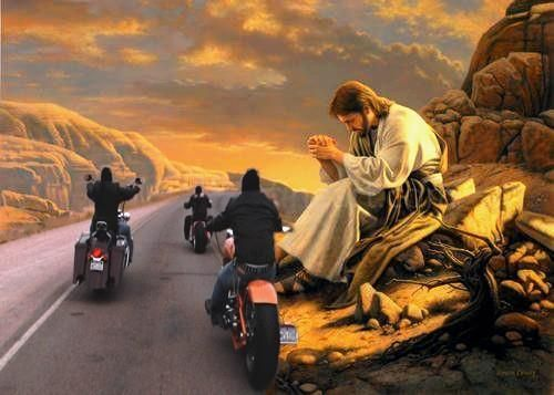 Jesus Biker Bikers Prayer